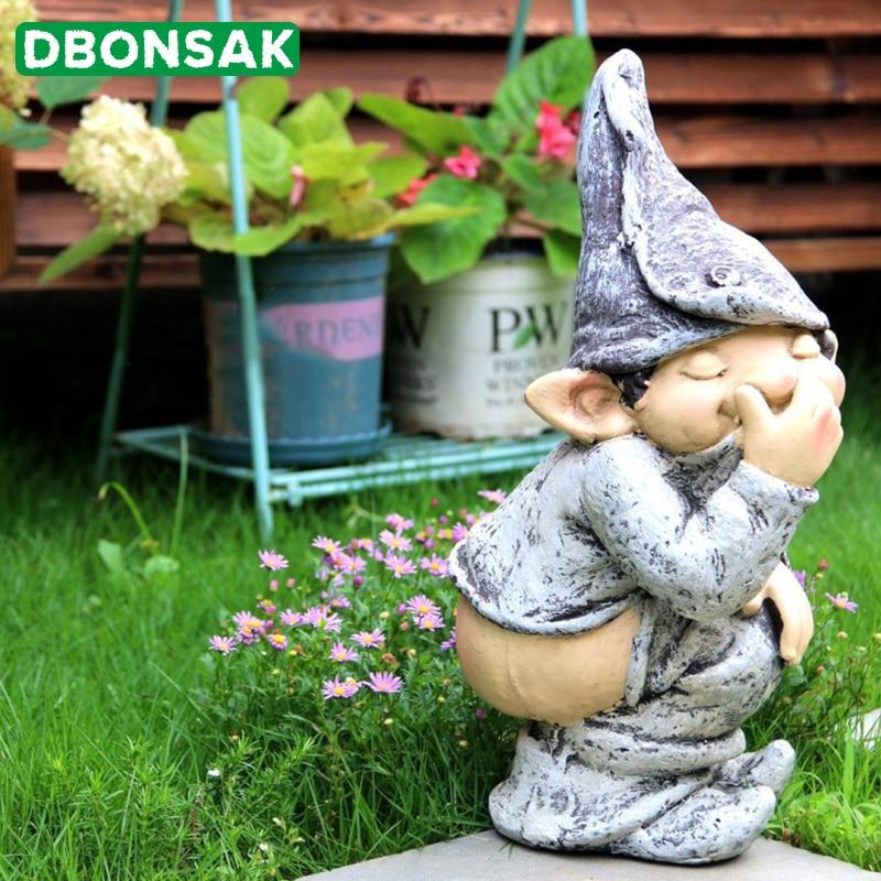 Funny Figure Naked Light Ass Decoration Elf Personage Decoration Little Boy Sculpture Outdoor Lawn Courtyard Garden Decoration