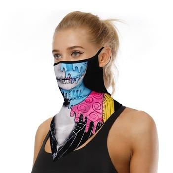 Face Mask Fashion Triangle Half Face Shield For Adults Men Women Sunscreen Bandanas Scarf Cycling Hanging Ear Face Mask Reusable