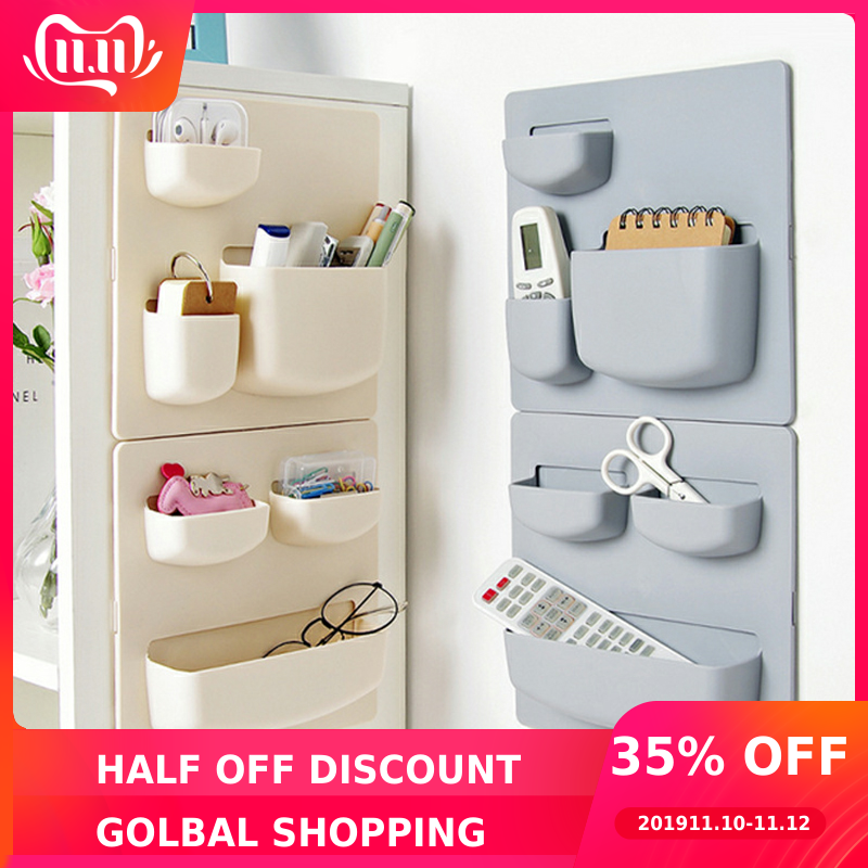 Home Storage Wall Suction Cup Plastic Storage Rack Cosmetic Toiletries Sundries Storage Holder Bathroom Kitchen Organizer
