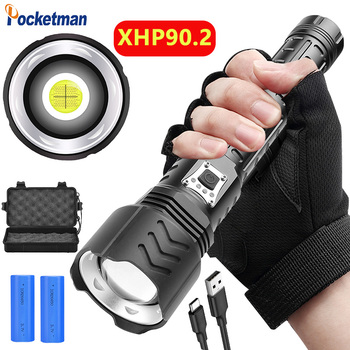 400000lm Super Powerful XHP90 Led Flashlight USB Rechargeable Torch Lanterna Zoomable Tactical Flash Light 26650 Power Bank image