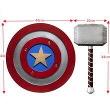 Bouclier de Super-héros Steve Rogers 1:1, modèle marteau, Costume Cosplay, jouets pour enfants en toute sécurité