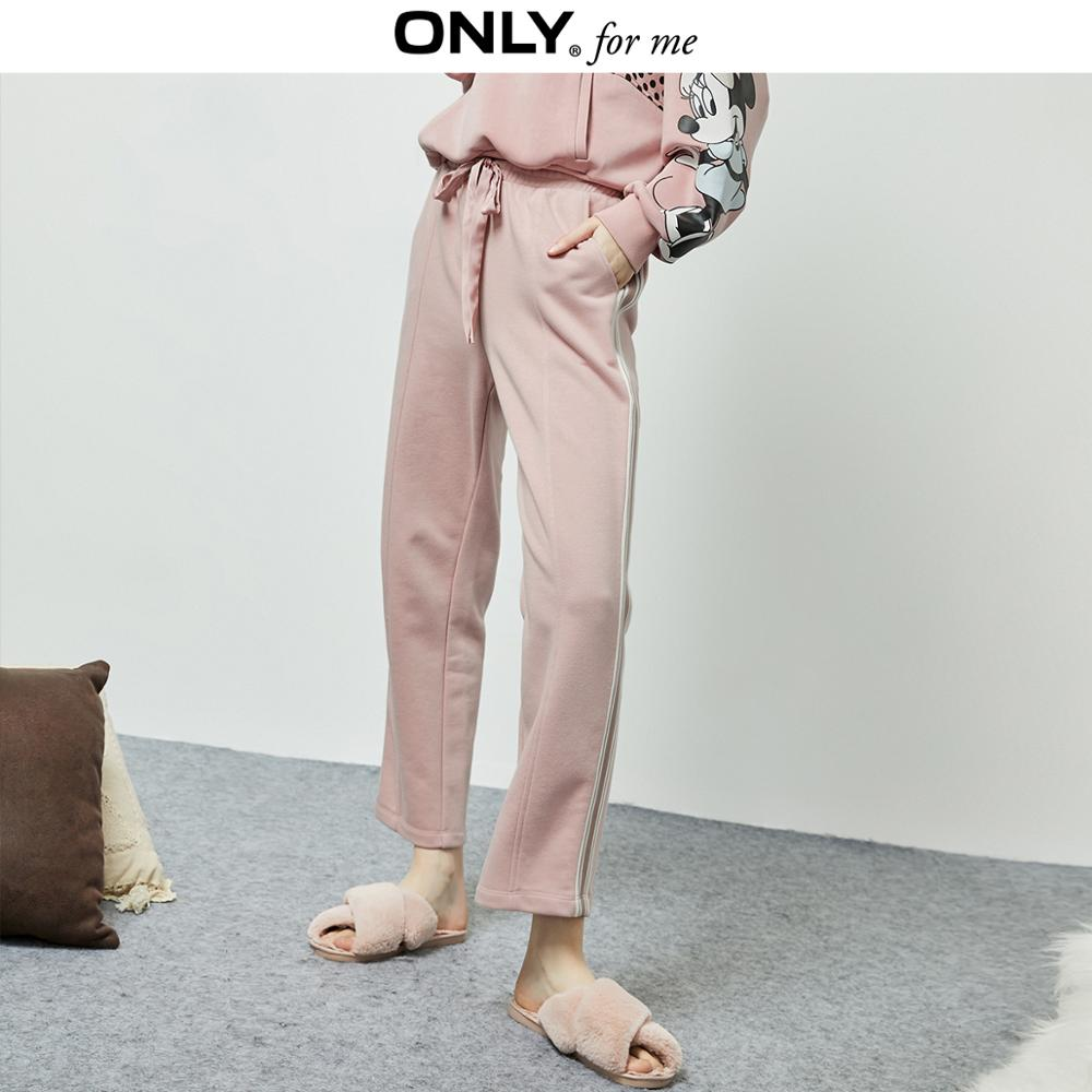 ONLY Women's Straight Fit Striped High-rise Crop Pants | 11941D503