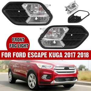 NEW 1/2 PCS Left/Right Front Fog Light Cover Lamp Cover and Fog Light Lamp For Ford Escape Kuga 2017 2018(China)