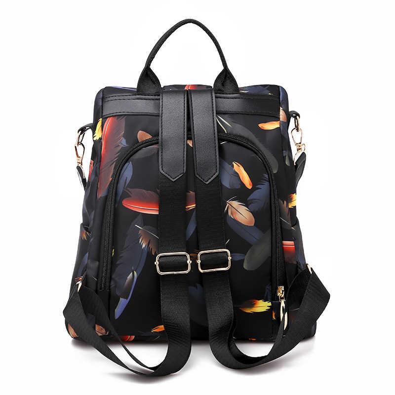 Kadınlar katı sırt çantası Anti hırsızlık sırt çantaları su geçirmez Oxford kadın küçük sırt çantası okul çantaları kızlar Mochila seyahat Dropship