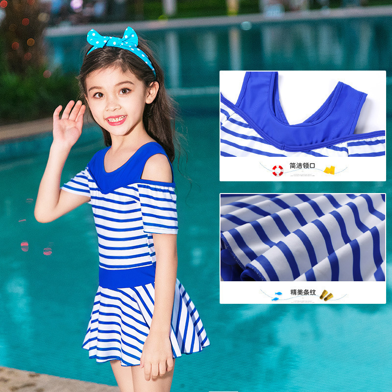 2019 Princess Dress-Tour Bathing Suit Cute Girls Baby Swimwear Students Big Boy Boxer One-piece Swimsuit For Children