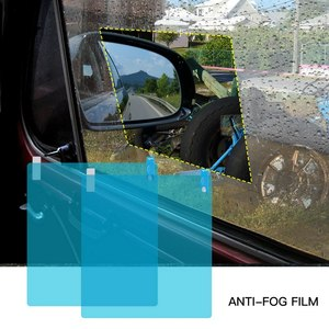 Image 4 - 4pcs Car Side Window Protective Film Universal Anti Fog Membrane Antiglare Waterproof Rainproof Car Sticker Clear Film Kit