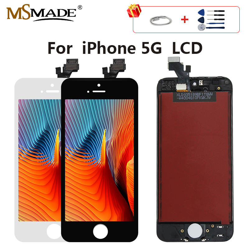 <font><b>Original</b></font> LCD Für <font><b>iPhone</b></font> <font><b>5</b></font> 5G LCD Screen <font><b>Display</b></font> Touch Digitizer Montage Ersatz Teile Tianma Glas Keine Tote Pixel image
