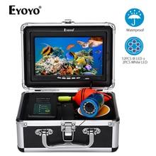 Eyoyo 7 дюймов HD 1000tvl подводная рыболовная видеокамера комплект 12 шт. белых светодиодов инфракрасная лампа рыболокатор 15 м 30 м 50 м olta kam