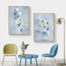 White Flowers Home Decoration Picture Wall Art Canvas Oil Painting Nordic Posters and Prints Wall Pictures Decor for Living Room wall art canvas painting 3d flower picture posters and prints golden flowers poster wall pictures for living room home decor