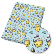 Полиэфирная хлопковая ткань простыня ткани кролик яйцо мультяшный