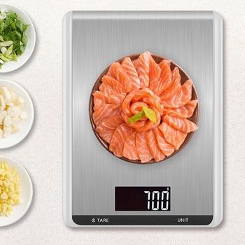 Принимает массу весом до 5 кг/10 кг кухонные весы, модное кольцо из нержавеющей стали, ЖК-дисплей цифровые весы 1 г Электронные весы еда выпечка весовая шкала