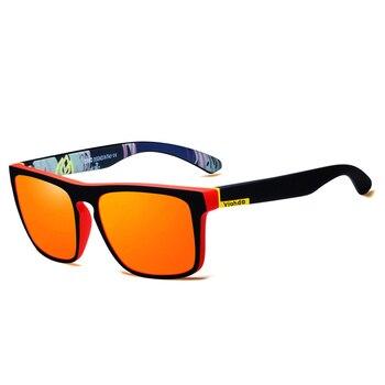 Viahda Polarized Sunglasses Men Brand Design Driving Sun glasses Square Glasses For Men High Quality UV400 Shades Eyewear