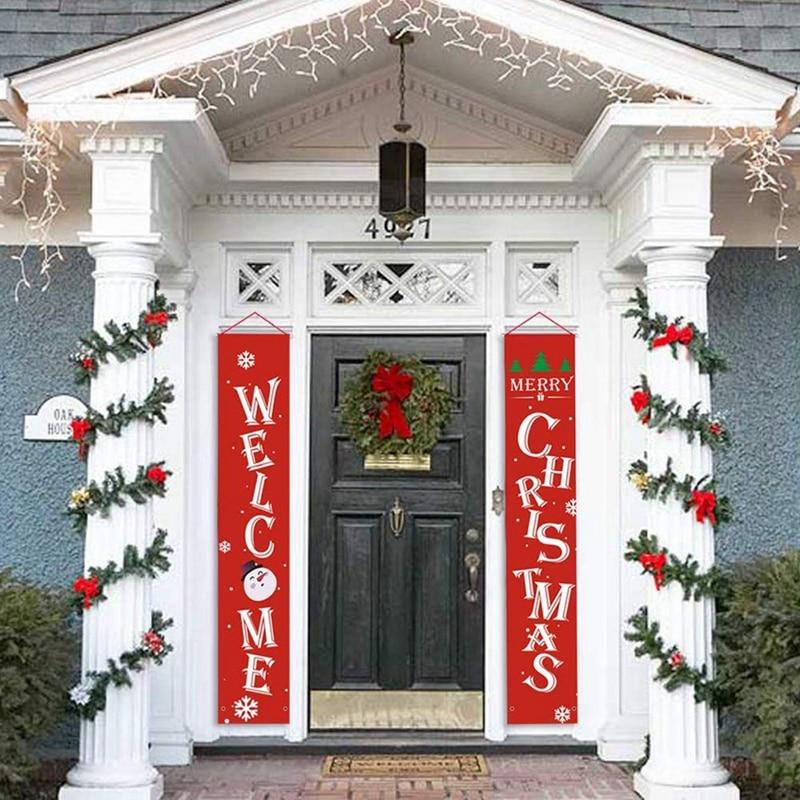 Мода-веселый рождественский баннер, рождественское крыльцо, камин, настенные вывески, флаг для рождественских украшений, наружные, внутренние, для дома, вечерние
