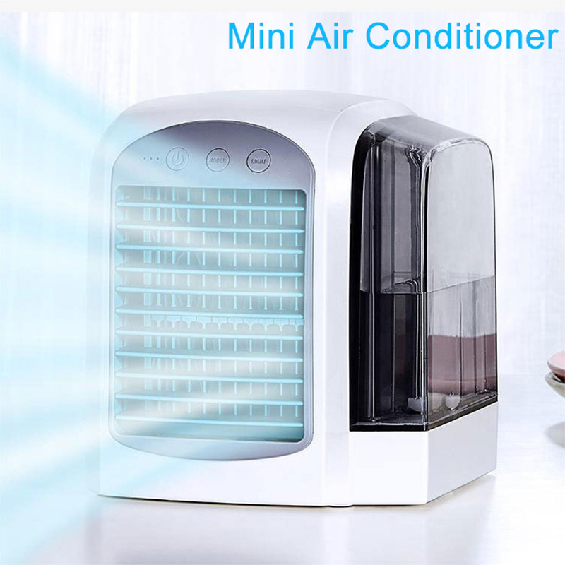 USB Air Cooler Fan Convenient Air Conditioner Humidifier Space Easy Cool Purifies Air Cooling Fan For Home Office Portable