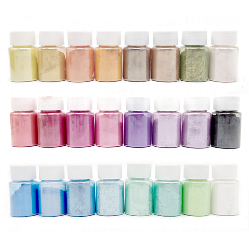 24-Color DIY Slime Kit Glitter Powder Filler Pigment Kids Decoration Toys Pearl Powder Dye Fluffy Slime Accessories Girls Gift