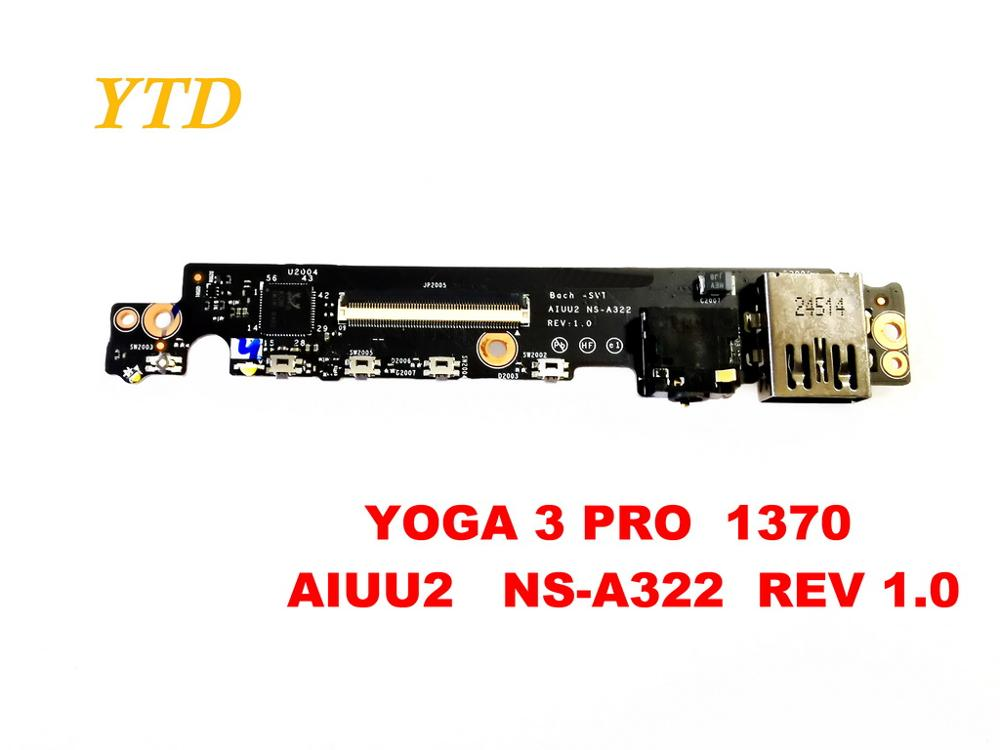 Original For Lenovo Yoga 3 PRO 1370 Audio  Board YOGA 3 PRO  1370   AIUU2   NS-A322  REV 1.0  Tested Good Free Shipping