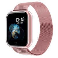 Femmes montre intelligente P70 P68 Plus Bluetooth étanche hommes Smartwatch pour Apple IPhone Xiaomi moniteur de fréquence cardiaque Fitness Tracker