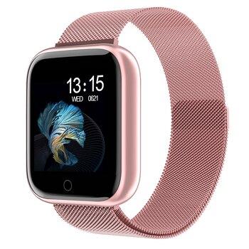 Frauen Smart Uhr P70 P68 Plus Bluetooth Wasserdicht Männer Smartwatch Für Apple IPhone Xiaomi Herz Rate Monitor Fitness Tracker