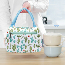 Cartoon Printed Lunch Bag For Women Cooler Bag Kids Men Insulated lunch Box Thermal Bag Pouch Lunch Container School Food Box dispalang violin print school backpack for girls thermal lunch sack bag for children kids insulated cooler bag bookbag michilas