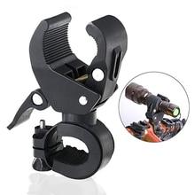 цена на Universal 90-degree Rotating Bike Bicycle Handlebar Mount LED Flashlight Torch Mount Clamp Clip Holder Grip Bracket (Black)