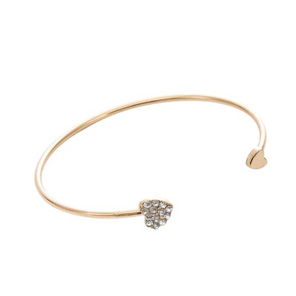 1pc klasyczne luksusowe Trendy kobiety kryształ podwójne pięć liści Indian Flower bransoletka mankietowa bransoletka urok biżuteria ze stali nierdzewnej prezent