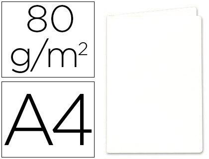 SUB-FOLDER PAPER EXACOMPTA DIN A4 WHITE 80 GR 100 Units