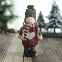 Decoraciones de Navidad Estilo Vintage muñeco de nieve accesorios de decoración del hogar Navidad niño regalo juguete Decoración de mesa para el hogar F96