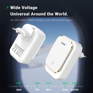 Image 5 - TOPK LED USB Ladegerät 22W 4 Port Telefon Ladegerät EU US UK AU Stecker Adapter Tragbare Reise Wand ladegerät für iPhone Xiaomi mi 10 pro