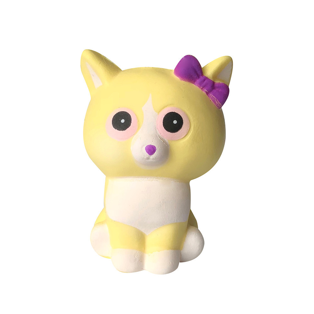 Adorable Kitty Slow Rising Toys Stress Relief Novelty Fun Toys Gift For Children Girly Heart Pinch Fun Squeeze Toys #A