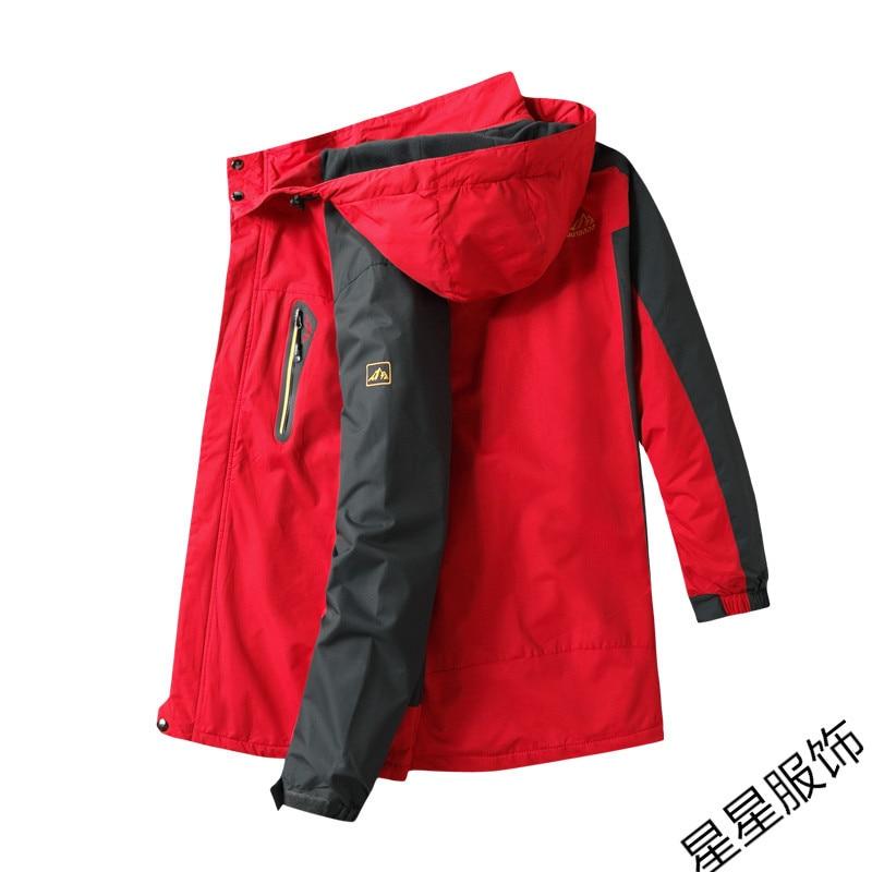 10xl 8xl Bomber veste hommes automne épaissir hommes manteau vêtements d'extérieur chauds coupe vent à capuche pardessus Zipper Parkas vestes homme à capuche mâle - 5