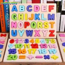Цифровая деревянная игрушка abc пазл с буквами алфавита и цифрами