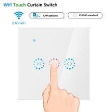Nieuwe Smart WiFi Gordijn Wandschakelaar Touch voor Elektrische Gemotoriseerde Gordijn Blind Rolluik Werkt met Alexa Google Thuis