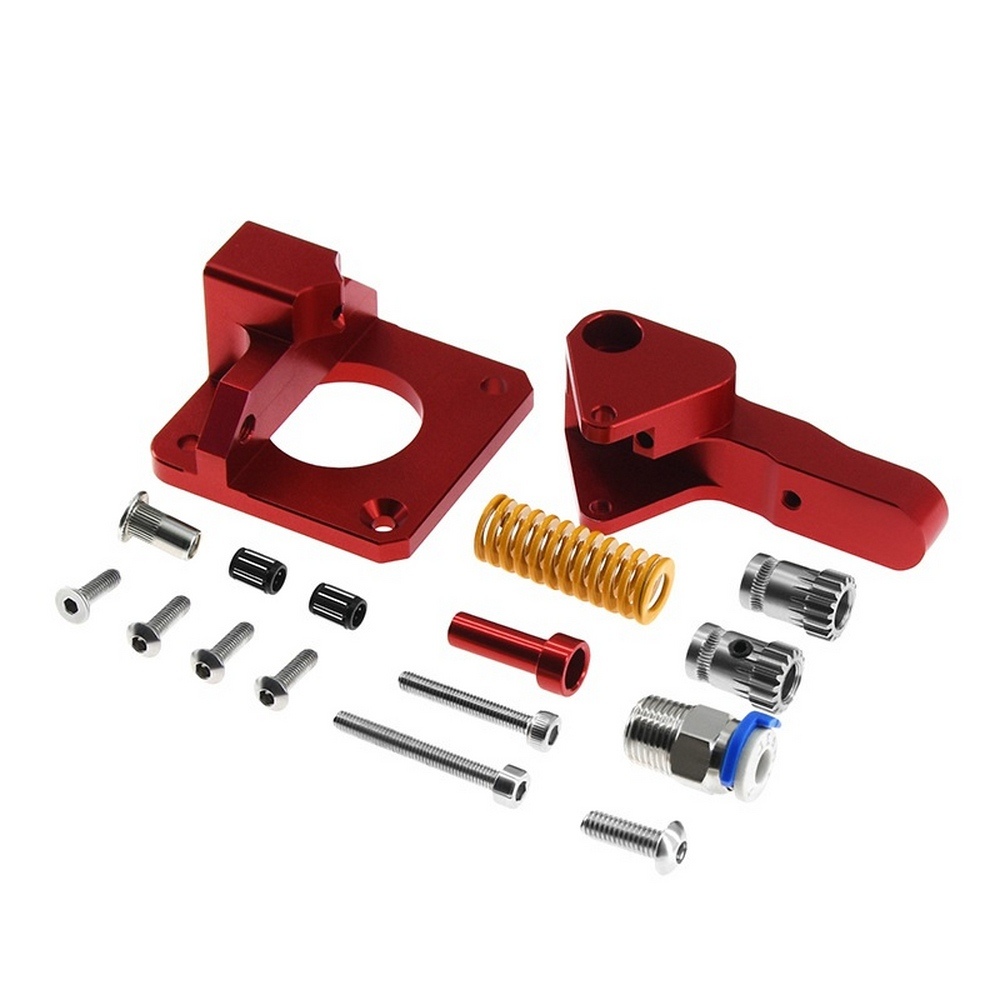 CR10 Metal Extruder Kit Aluminum Upgrade Dual Gear Mk8 For CR10S PRO Ender3 RepRap 1.75mm 3d Printer Feed Double Pulley Extruder
