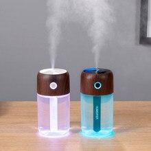ELOOLE Holzmaserung Mini Luftbefeuchter USB Ultraschall Aroma Ätherisches Öl Diffusor Nanometer Zerstäubung Spray Für Home Auto