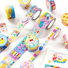 Masking-Tape Decorative Bullet-Journal-Supplies Pet Washi Hand-Painted Cartoon Cute