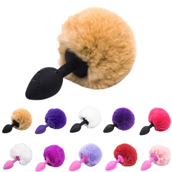 Anal Plug Silicone Rabbit Tail Butt Plug Anal Sextoys Erotic Cosplay Sex Toys For Couples Man Women Gay Adult Sex Products rabbit tail anal plug tail butt plug sexy feather toys for women adult sex small products