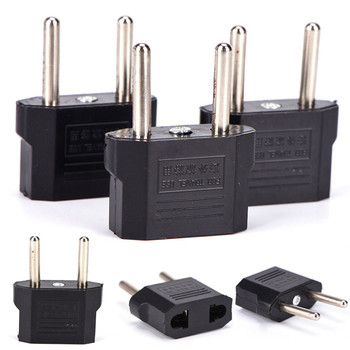 100-240V 2 Round Socket Pin US AU EU To EU Plug Travel Wall AC Power Chargers Outlet Adapter Cable Converter image