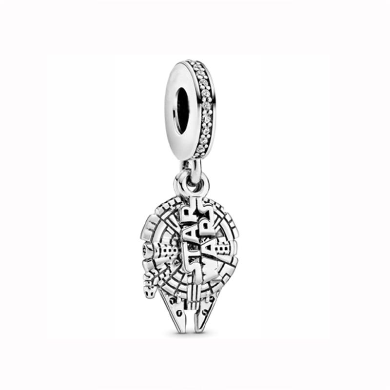 Original 925 Sterling Silver Charm Star Wars Millennium Falcon Paris Exclusiv Pendant Beads Fit Pandora Bracelet Women Jewelry