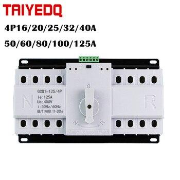 4P Doble potencia ats Interruptor de Transferencia Automática disyuntor MCB AC 220V 16A 20A 25A 32A 40A 50A 60A 63A 80A 100A 125A