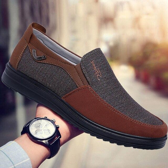 Парусиновые мужские туфли 2
