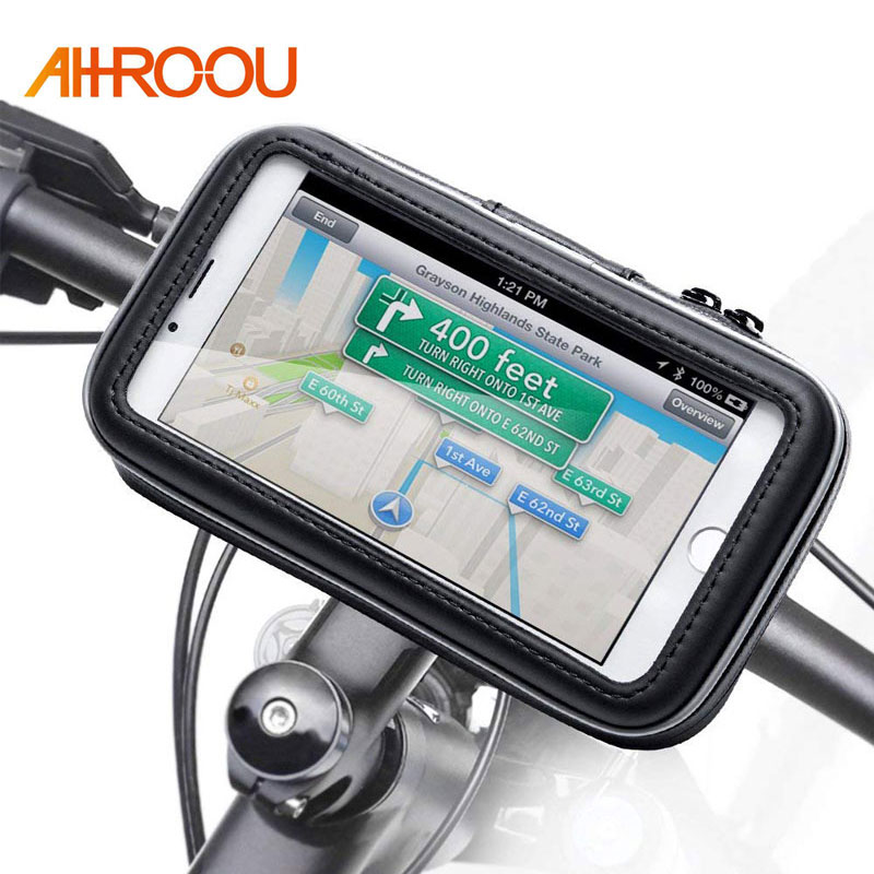 Bicycle Motorcycle Phone Holder Telephone Support For Moto Stand Bag For Iphone X 8 Plus SE S9 GPS Bike Holder Waterproof Cover