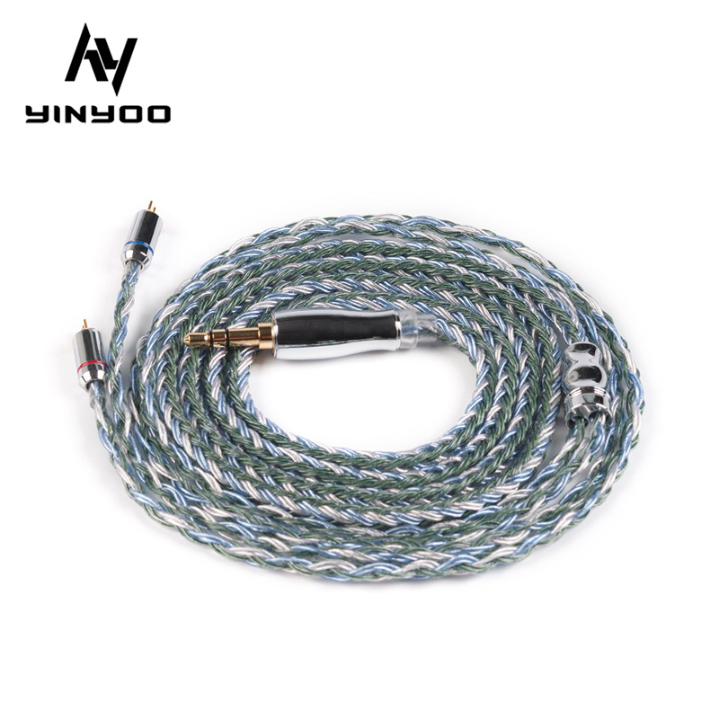 Yinyoo 16 Core Upgraded Silver Plated Copper Cable 2 5 3 5 4 4MM with MMCX 2pin QDC TFZ For KZ ZS10PRO ZSX BLON BL-03 BL-05 BL05
