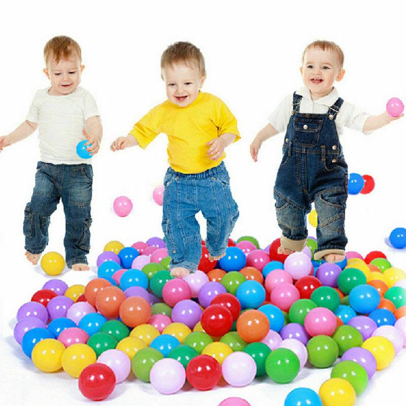 100pcs Play Balls Soft Plastic Non-Toxic Phthalate-Free Crush-Proof Pit Balls Baby Kids Toy Swim Pit Toys(China)