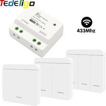 Interruttore a luce intelligente senza fili 433MHz AC 90-250V 10A ricevitore interruttore a parete per telecomando universale per sala corridoio lampada da soffitto