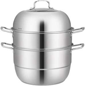 Pot Steam-Cooker Gas-Electric-Induction Stainless-Steel Double-Boilder-Work Grill-Stove