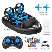 Dron de control remoto 3 en 1 mejorado H36 H36F 1/20 2,4G, vehículo volador, barco de conducción terrestre, Mini MODELO DE Dron, juguetes RTR VS E016F