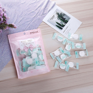 30PCS Facial Cotton Compressed Masque Disposable Wrapped Masks Sheets Tablets for DIY Skin Care Non-woven compression mask paper