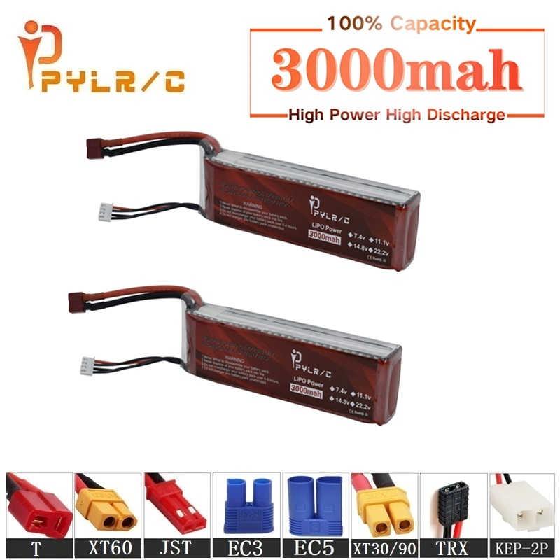 Alta Velocidad 11,1 v 3000mAh Lipo batería para RC helicóptero partes 3s batería de litio 11,1 v 45C RC coches Dron avión batería T/XT60