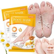 6Pair Honey Milk Foot Mask Moisturizing Feet Mask Remover Dead Foot Exfoliating Foot Mask Socks for Pedicure Socks Foot Patch