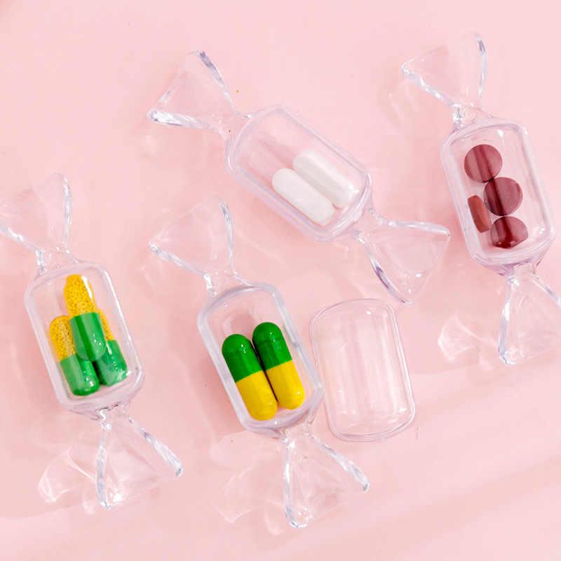 Brincos organizadores de maquiagem transparente, mini bolsa de brincos portátil para meninas adolescentes, organizador de cosméticos para viagem, 1 peça